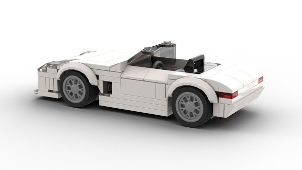 LEGO Mercedes-Benz SLS AMG roadster model rear view