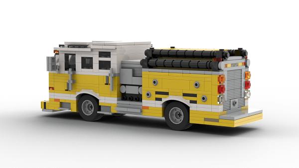 LEGO Pierce Dash Pumper model rear view