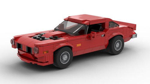 LEGO Pontiac Firebird Trans Am 73 model