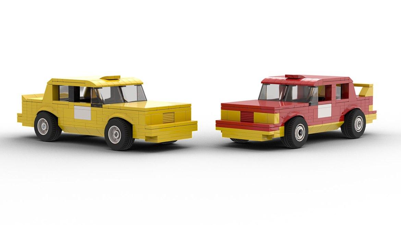 LEGO Volvo 240 Rallycross models