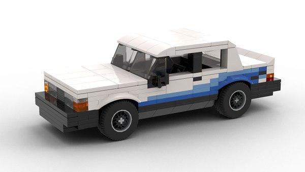LEGO Volvo 240 Turbo Group A race car model