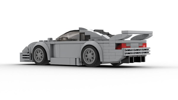 LEGO Mercedes-Benz CLK GTR model rear view