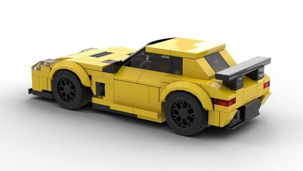 LEGO Mercedes-Benz SLS AMG Black model rear view