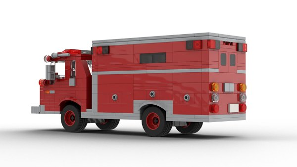 LEGO Ford C Series Fire Dept Vehicle model rear view