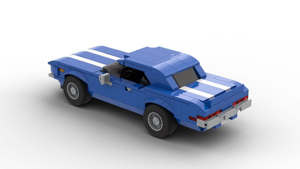 LEGO Chevrolet Camaro Z28 1969 model rear view