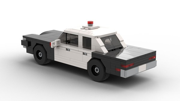 LEGO Dodge Coronet Police Car 70 model rear view