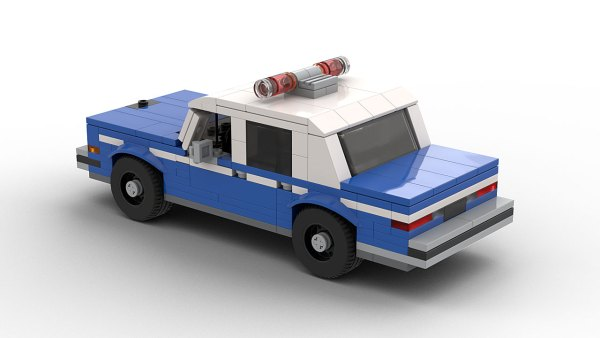 LEGO Dodge Diplomat NYPD Police Car model rear view