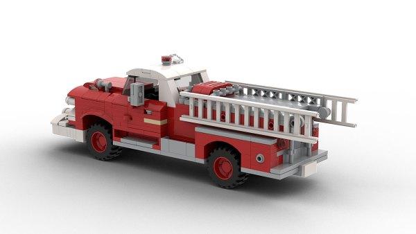 LEGO GMC Fire Truck 1958 model rear view