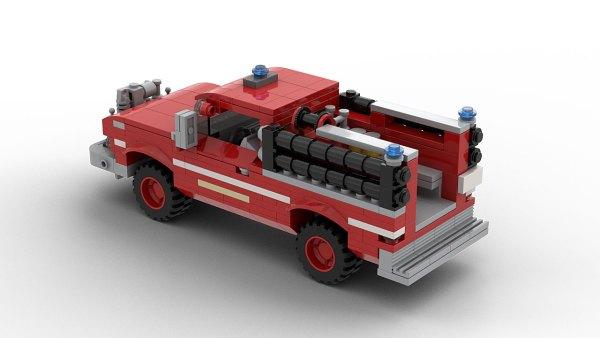 LEGO GMC Rescue Pickup Truck 1966 model rear view