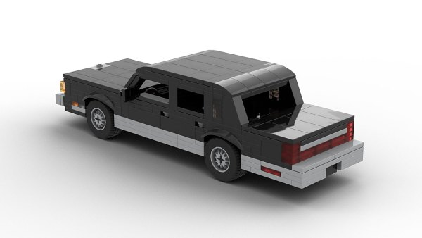 LEGO Lincoln Town Car 89 model rear view
