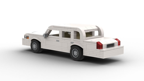 LEGO Lincoln Town Car 98 model rear view