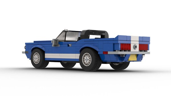 LEGO Ford Shelby GT500 KR Convertible model rear view