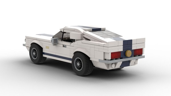 LEGO Ford Shelby GT500 Super Snake 67 model rear view