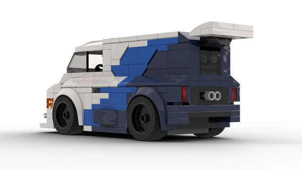 LEGO Ford Supervan 3 model rear view