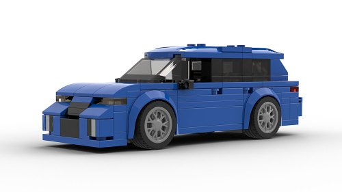 LEGO Audi RS6 Avant Wagon model front view
