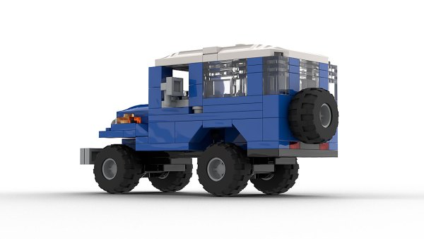 LEGO Toyota Land Cruiser FJ40 model rear view