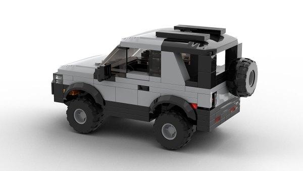 LEGO Land Rover Freelander 98 3-door model rear view