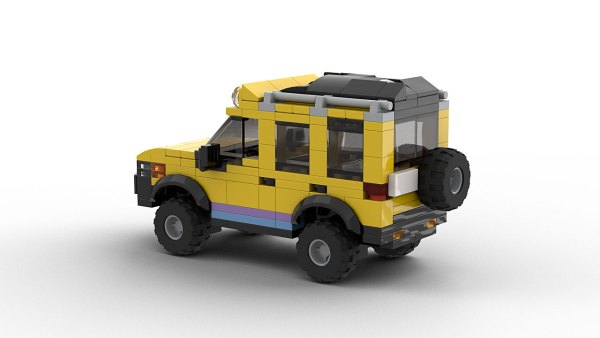 LEGO Land Rover Freelander Camel Trophy Model Rear View