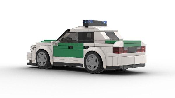 LEGO Mercedes-Benz E320 Police Rear View model rear view