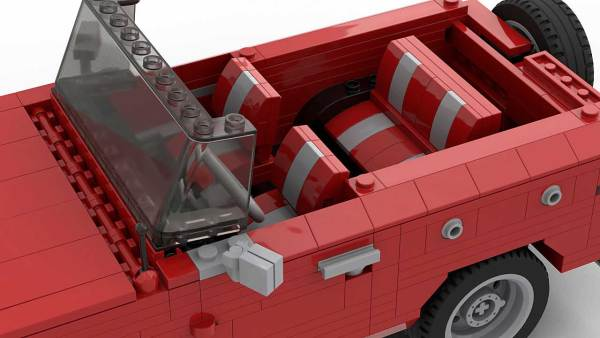 LEGO Ford Bronco MOC interior
