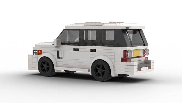 LEGO Range Rover Sport model rear view