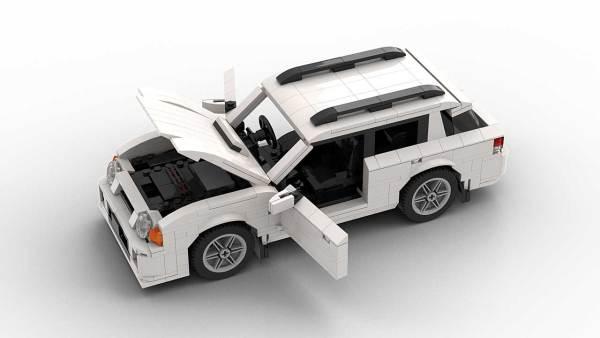 LEGO Subaru Impreza 01 Wagon model with openable doors