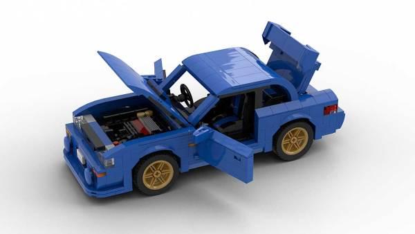 LEGO Subaru Impreza 22B model with opening parts