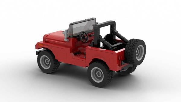 LEGO Jeep CJ7 model rear view