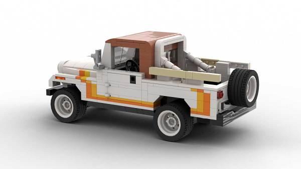 LEGO Jeep CJ8 Scrambler model rear view