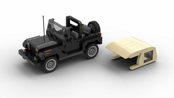 LEGO Jeep Wrangler YJ model with removable roof