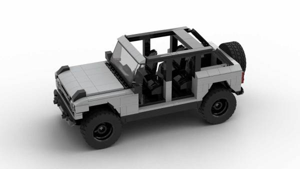 LEGO Ford Bronco 2021 4-door model from top view