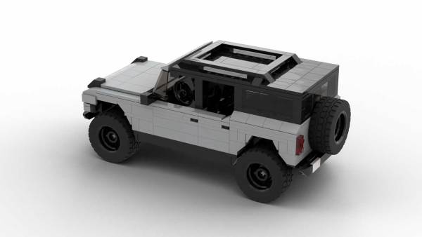 LEGO Ford Bronco 2021 4-door model with roof up rear view
