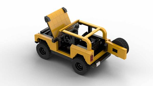 LEGO Ford Bronco with opening parts model