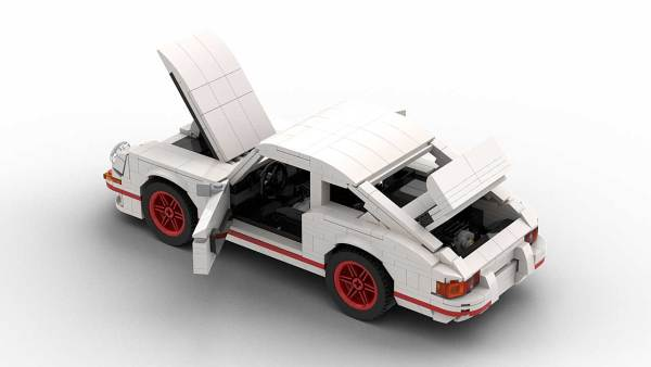 LEGO Porsche 911 Carrera RS model with opening parts rear view