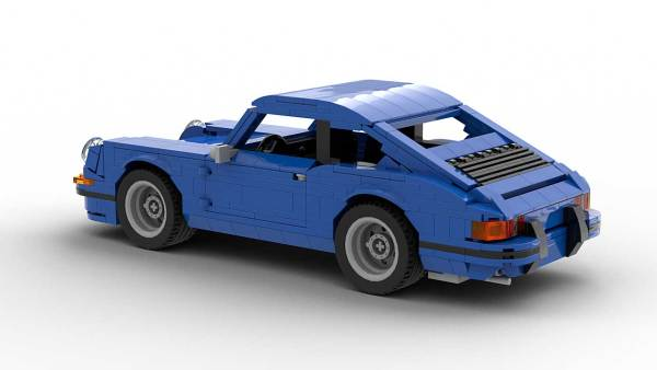 LEGO Porsche 911 Classic model rear view