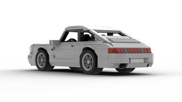 LEGO Porsche 993 Carrera S model rear view