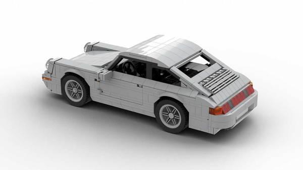 LEGO Porsche 993 Carrera S model top rear view