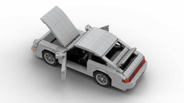 LEGO Porsche 993 Carrera S model with opening doors