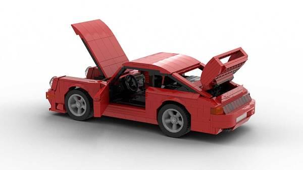 LEGO Porsche 993 GT2 model with opening doors