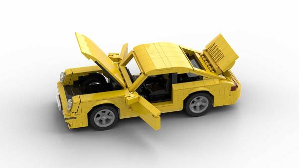 LEGO Porsche 993 Turbo model with opening parts