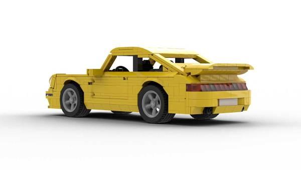 LEGO Porsche 993 Turbo model rear view
