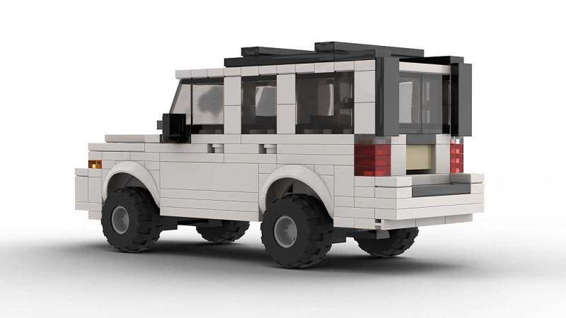 LEGO Jeep Commander model rear view