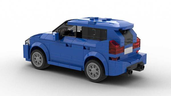 LEGO BMW 2 Series Gran Tourer model rear view