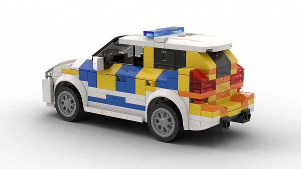LEGO BMW 2 Series Police model rear view