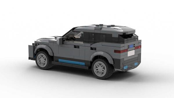 LEGO BMW iX model rear view