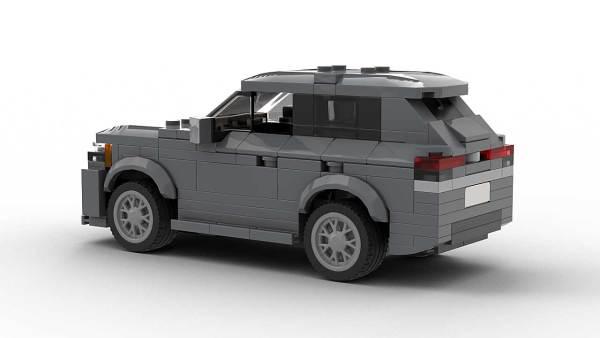LEGO Volkswagen Atlas Cross Sport model rear view angle