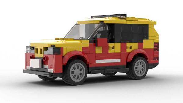 LEGO BMW X5 E70 Fire Dep model