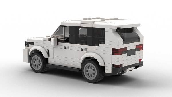 LEGO BMW X5 model rear view