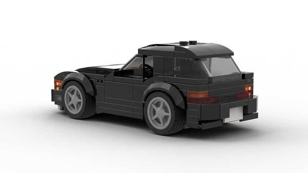 LEGO BMW Z3 Coupe model Rear View