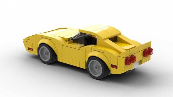 LEGO Chevrolet Corvette C3 Model Rear View